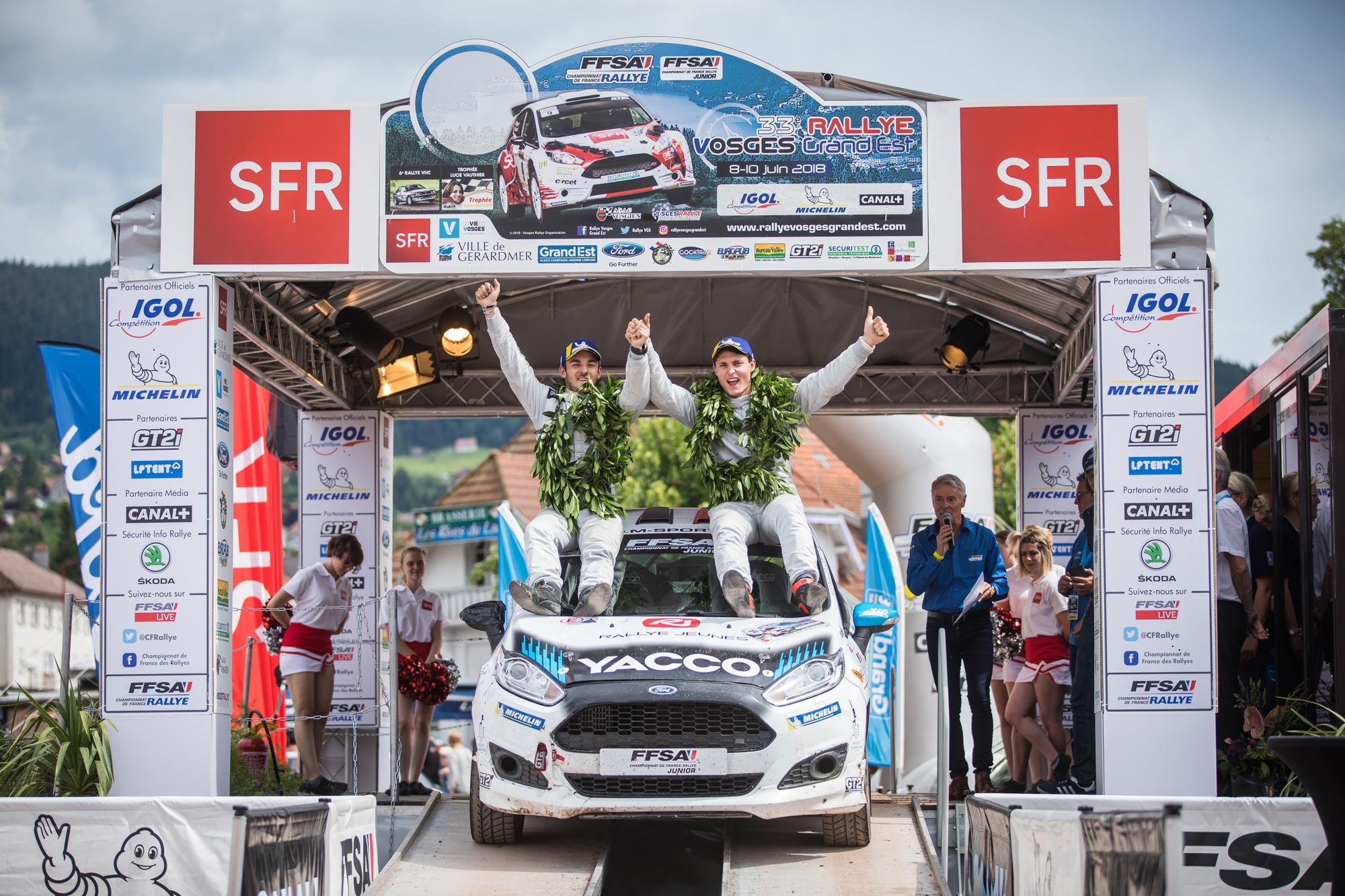 Championnat de France des rallyes Junior 2018